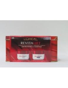 Pack loreal Revitalift día y noche ácido hialurónico máxima acción